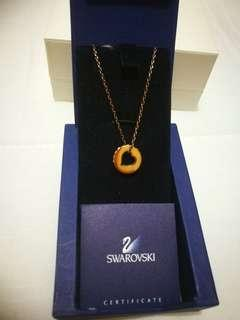 Swarovski rose gold necklace