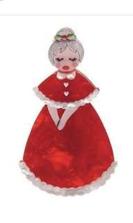 Christmas brooch! Mrs Claus