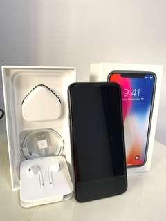 iPhone X 256GB with full accessories