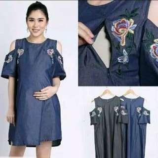 Dress menyusui (pengiriman Tangerang)