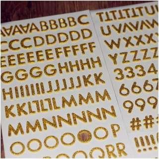 Foam Glitter Alphabet Sticker- Yellow