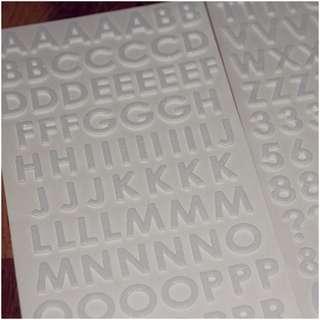 Foam Glitter Alphabet- White