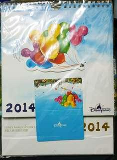 迪士尼 Mickey 米奇 汽球 年歷 2014 附 同款年歷卡 $30/本 $50/兩本
