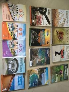 Secondary textbooks for sale