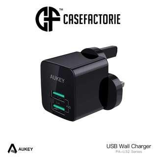Aukey PA-U32 2-Port USB Wall Charger with 4.8A Max Output