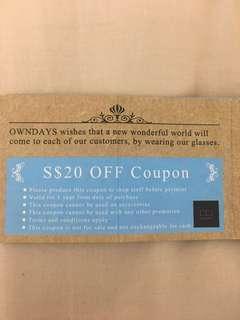 $20 off Owndays Vouchers
