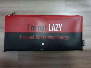 🚚 I'm not lazy pencil case (leather)