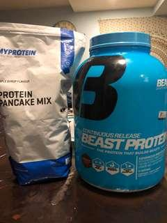 protein pancake and whey