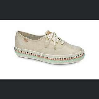 2657aa1a4d8 Keds shimmer beige canvas shoes platform