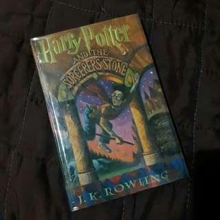 Harry Potter and the Sorcerer's Stone hardbound book cover
