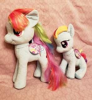 彩馬 little pony 毛公仔 兩只