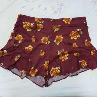 BNWT Forever 21 F21 Rust/ Mustard Floral Woven Shorts