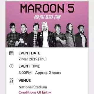 Tiket Maroon 5 SINGAPORE (Standing)