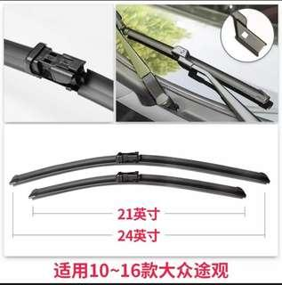 Windshield wiper blades replacement for top-lock connector (VW Tiguan)