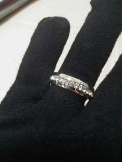 BN Rhinestone Titanium Fashion Ring