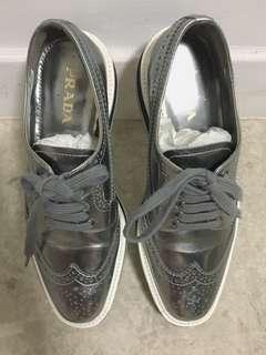 Prada shoes in silver size 35.5