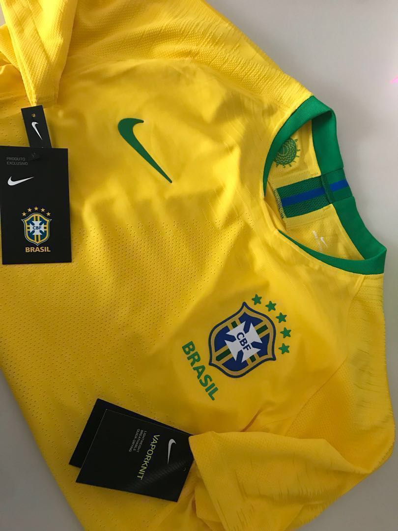 7d94dcc04 2018 Brazil CBF Vapor Match Home Jersey Player Version