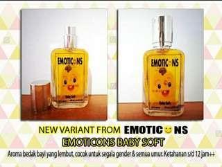 EMOTICONS PARFUM edt 30ml aroma bedak bayi baby soft