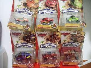 Disney cars set ($7 × 6)