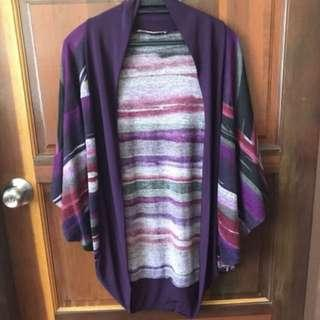 Ms Read Purple Tie Dye Cardigan