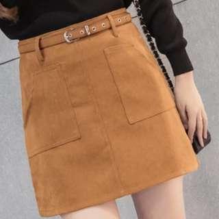 🚚 High waist A Line Skirts in Beige