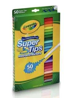 Crayola美國50色可水洗彩筆Washable Markers Pen