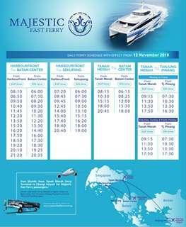 Batam Majestic Ferry Ticket (All-in!!)