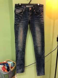 🚚 女款 刷色牛仔褲 牛仔長褲 顯瘦牛仔褲 仿舊牛仔褲 牛仔長褲