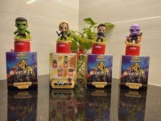 TESCO Marvels Avengers Infinity War BLACK WIDOW, THANOS, HULK
