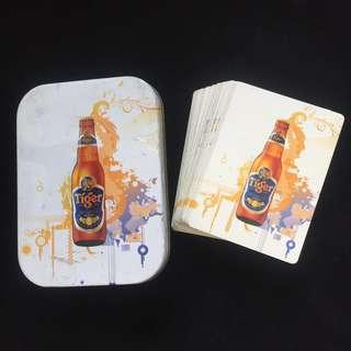 Vintage TIGER BEER Playing Cards Metal Case Limited Edition 2008