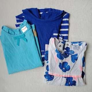 Set of Blue Clothes for Toddler, 1-2T