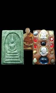 Phra Somdej (Jade) and Salika with Ganesha by LP Hong (BE2555/2546)