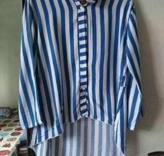 Baju strips biru