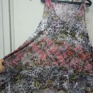 Dress jepang japan style motif abstract