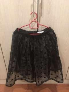Organza polka dot skirt