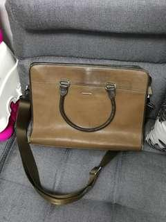Man leather bag for work