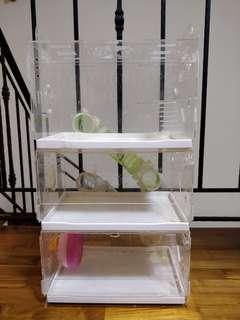 Hamster 3 tier acrylic cage