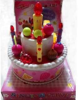 🚚 音樂生日蛋糕,有燈光喔~