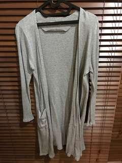 CottonInk Grey Long Cardigan