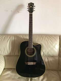 Washburn Acoustic Guitar WD5SCEB