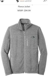 Northface grey fleece jacket