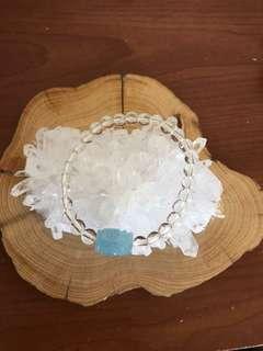 海藍寶回紋珠+白水晶 免運費
