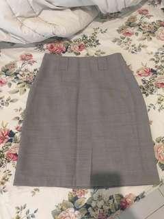 Grey high waist skirt