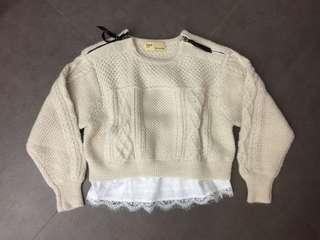 Toga 白色短身冷衫