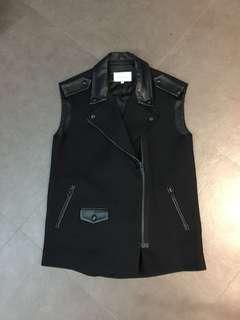 Sandro leather jacket vest