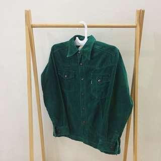 Green suede jacket by BIG JOHN