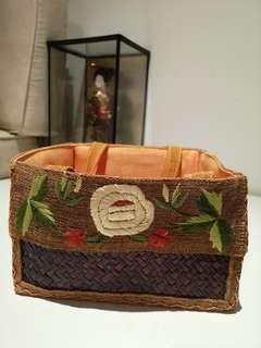 Floral rattan baskets - handmade #APR75