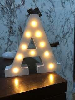 """White """"A"""" light up display letter"""