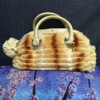 Genuine Fox fur hand bag
