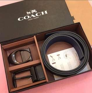 AUTHENTIC COACH BELT SET WITH 2 BUCKLE  VARIATION  PATERN CANVAS COATED